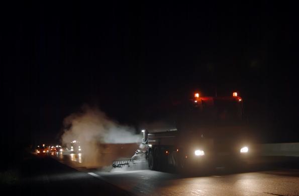 COLAS Chantier nocturne sur l'A13